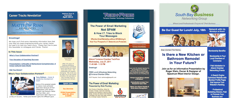 BrandZing designed email newsletters image