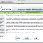 Just Wrks website image